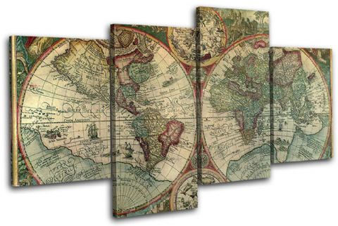 Old World Atlas Latin Maps Flags - 13-1780(00B)-MP04-LO